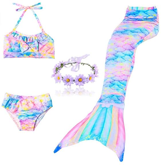 queue de sirène pour fille avec maillot de bain Daxiang