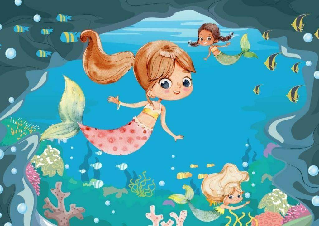 apprendre à dessiner les sirène et le monde aquatique