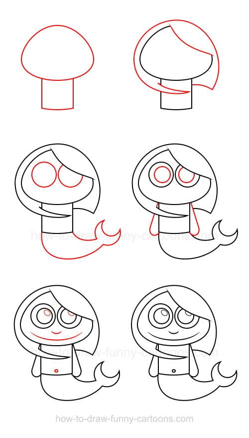 comment dessiner une sirène facile