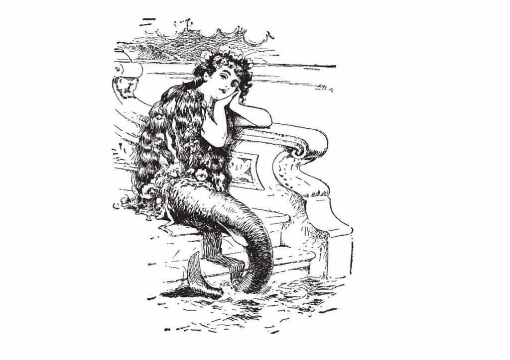 dessin de sirène réaliste