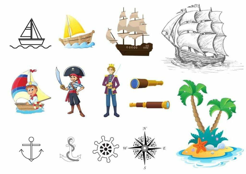 dessin du monde marin