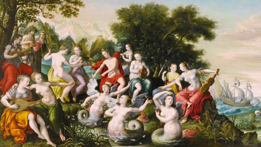 tableau-antique-mythe-sirène