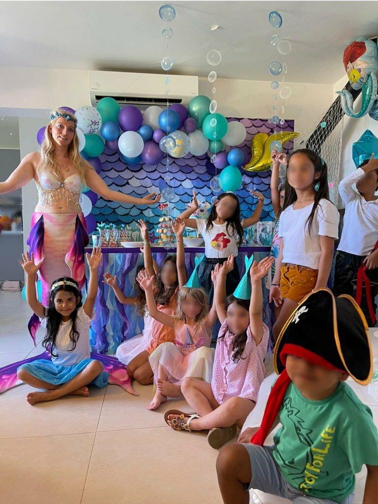 Freya sirène professionnelle pour prestation anniversaire enfant
