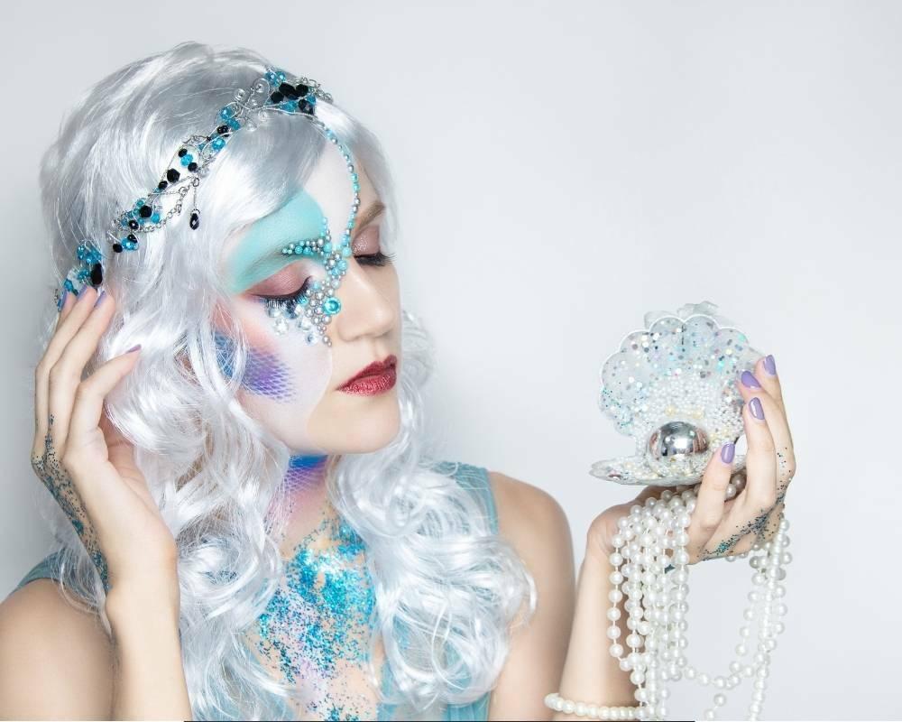 maquillage de sirène artistique